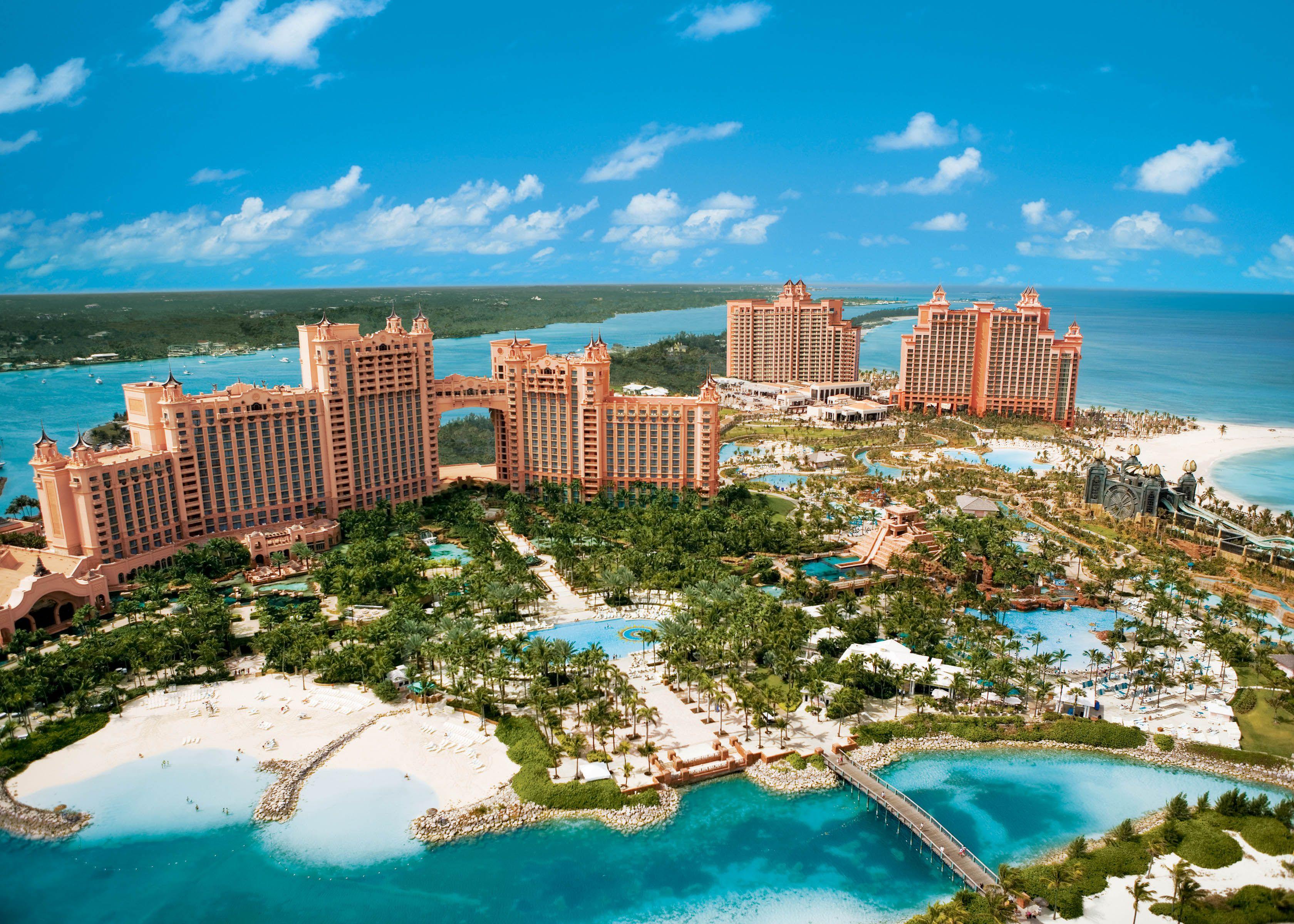 Aerial view of the Atlantis Paradise Island  Atlantis
