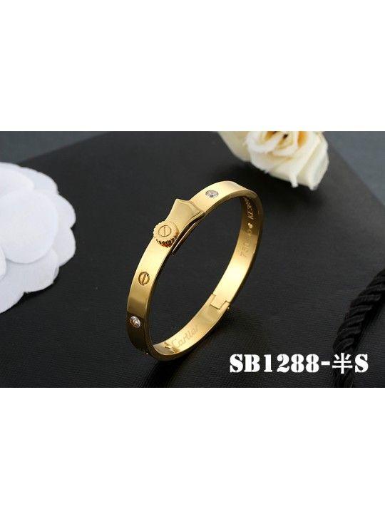 Cartier Love Bracelet in Yellow Gold with 4 Diamonds Big Screw