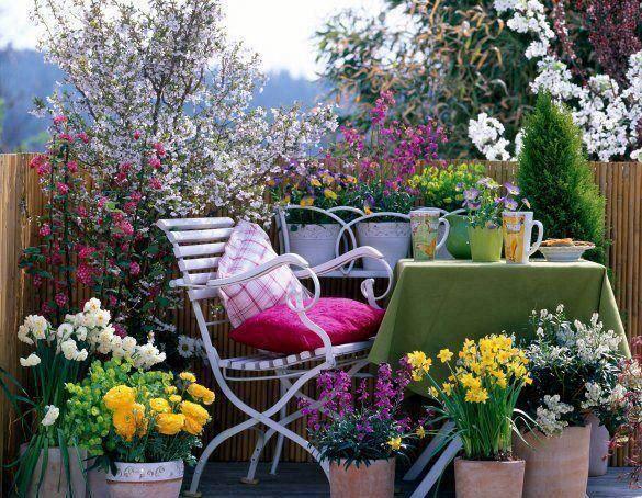 sichtschutz f r balkon holz hohe gel nder blumen bl hende. Black Bedroom Furniture Sets. Home Design Ideas