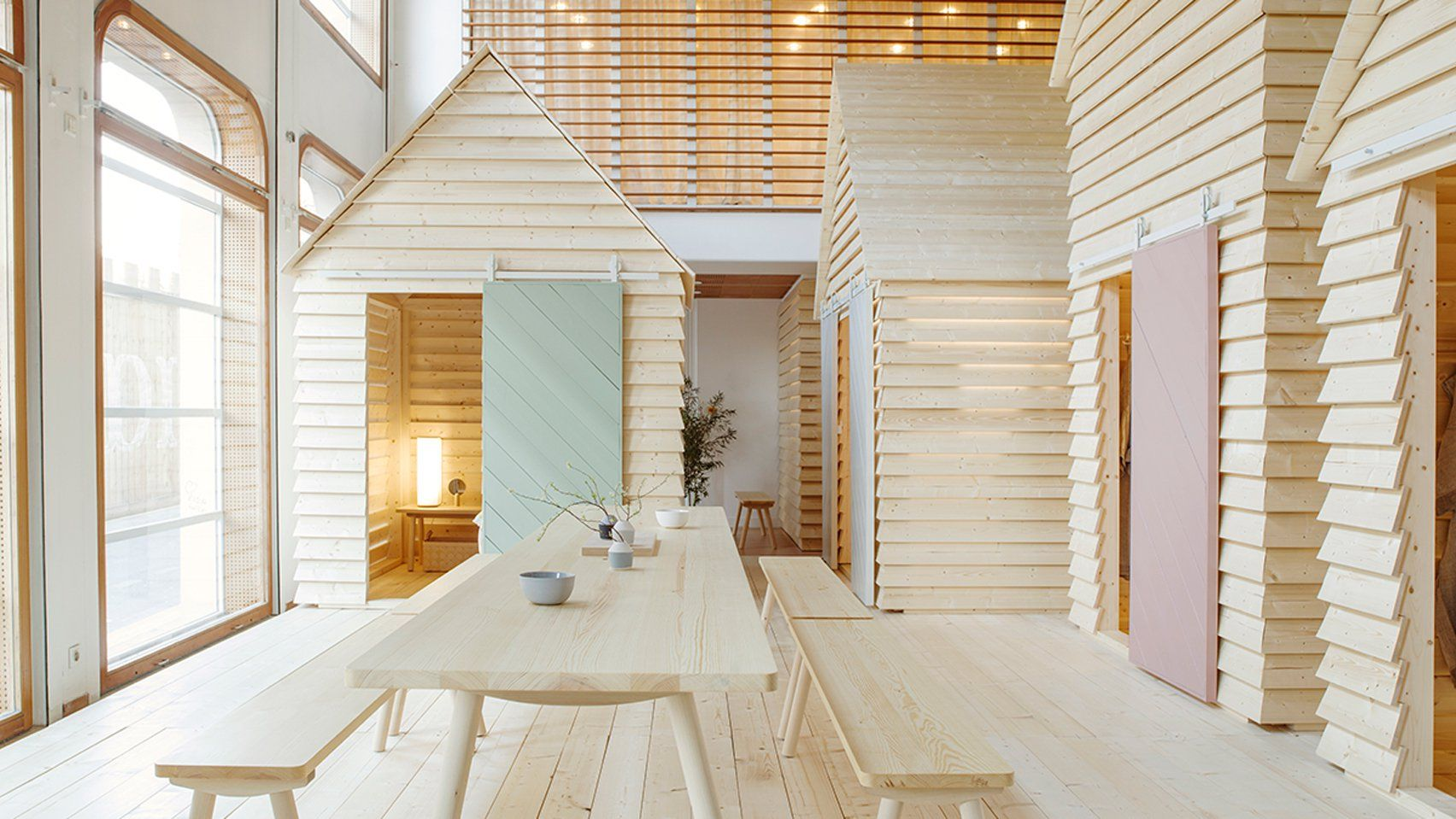 Visitors To The Koti Hotel In Paris Will Be Immersed In A Finnish Experience Sleeping In Wo Interior Architecture Design Hotel Interiors Interior Architecture