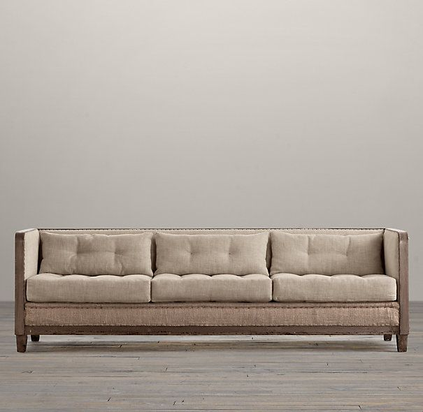 Deconstructed Shelter Arm Sofa  This Would Never Be Comfortable To Be  Husband Approved... But I LOVE It!
