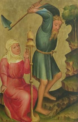 Adam And Eve At Work Detail From The Grabow Altarpiece 1379 83 Giclee Print At Posters2prints Com