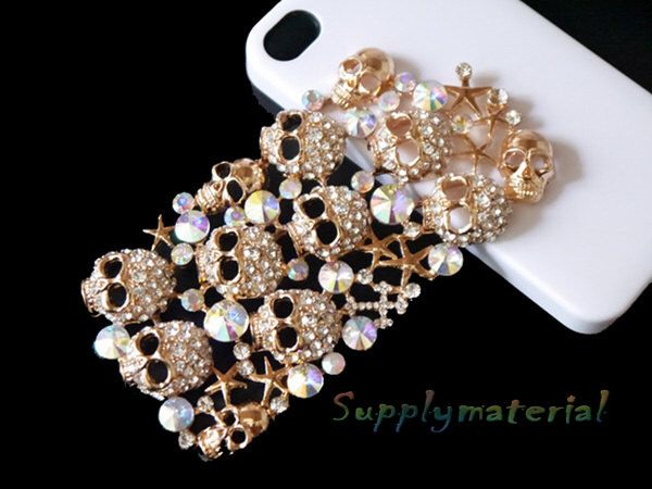 1PCS Bling Golden Crystal Big Skull Flatback Alloy jewelry Accessories materials supplies by supplymaterial on Etsy https://www.etsy.com/listing/115212412/1pcs-bling-golden-crystal-big-skull