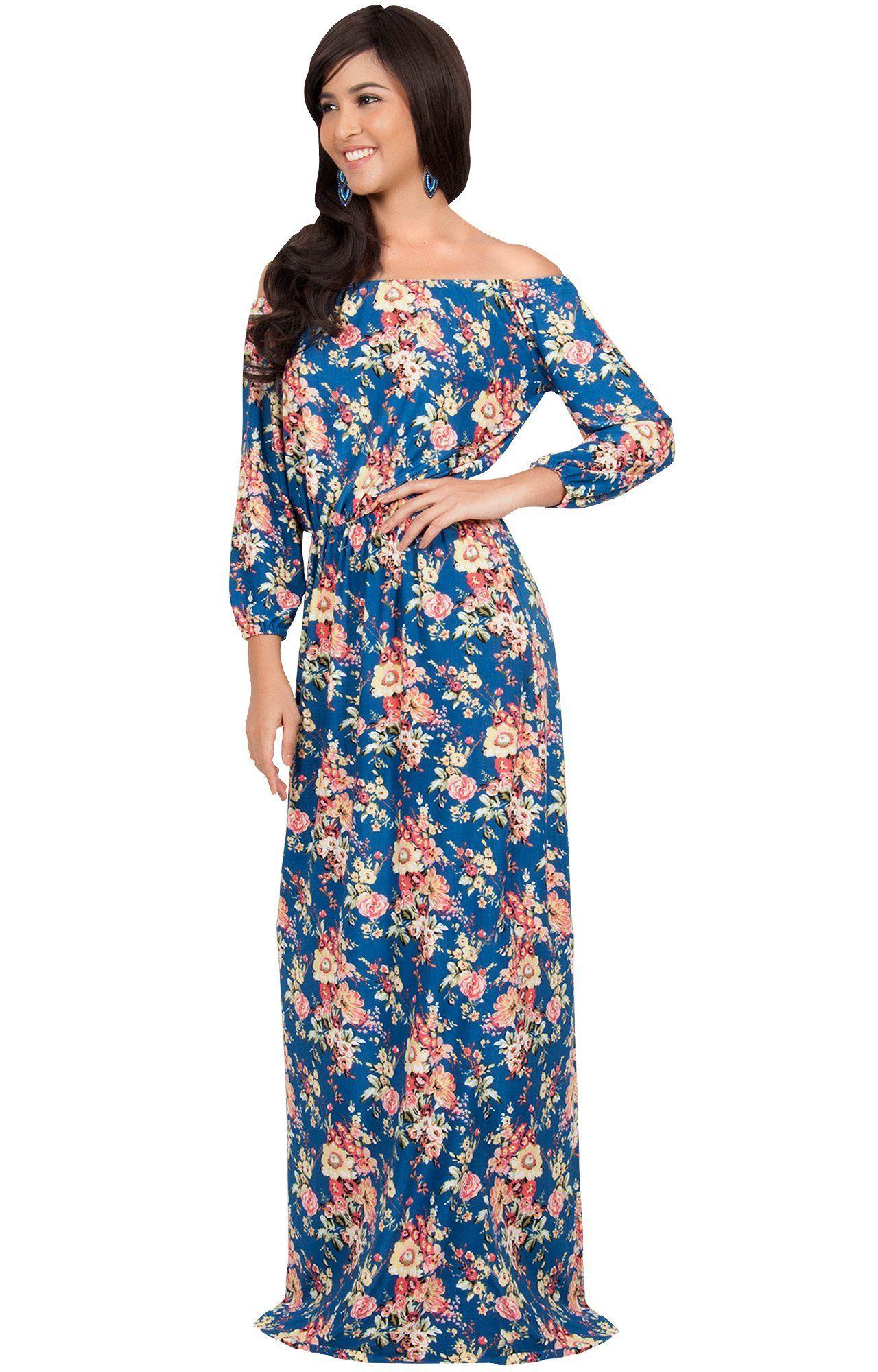3d8ed2cc096 Maternity Fashion - KOH KOH Plus Size Women Long Off Shoulder Summer Floral  Print Cute Boho