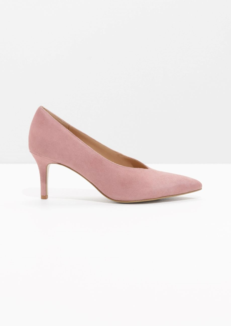 Other Stories Image 1 Of Pointed Suede Pumps In Dusty Pink Suede Pumps Pumps Stiletto Pumps