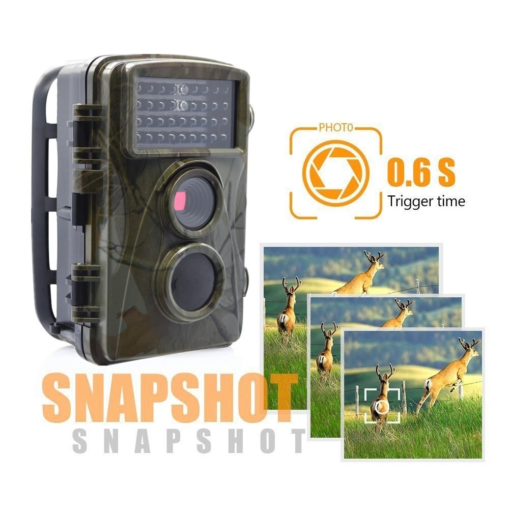 9ae74fd158d 67.88  Buy here - Hunting Trail Game Camera black infrared Scouting Cameras  8MP 720P IP66
