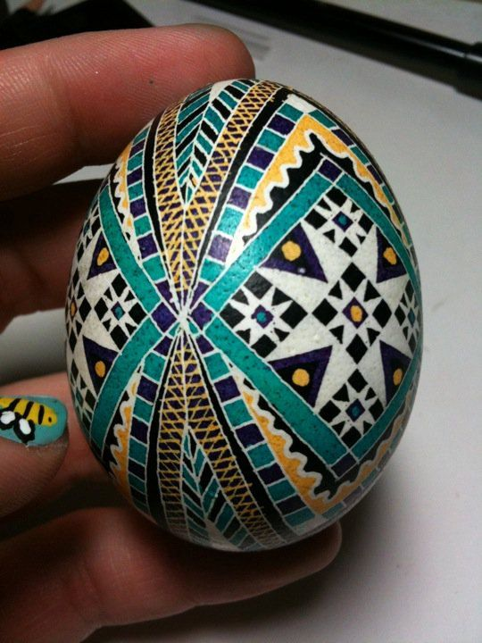 Chicken Egg Pysanky by PysankyByBekah on Etsy, $50.00