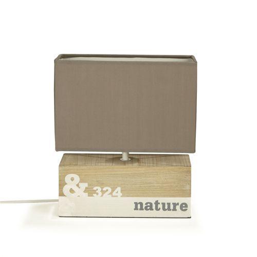 Lampe en bois imprimé nature - Nature