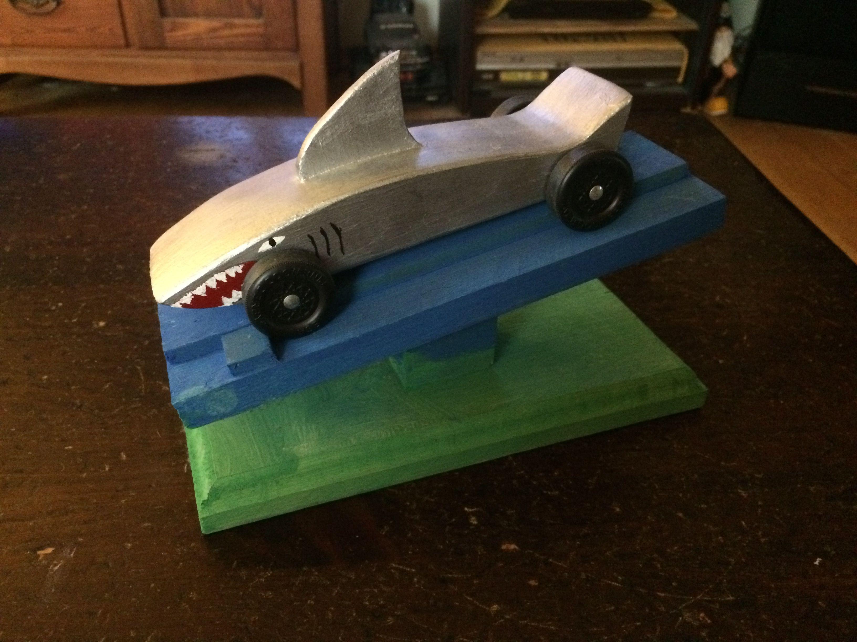 Shark Pinewood Derby Car School Other Pinterest Derby Cars
