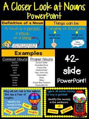 Nouns Powerpoint Advanced Version Tangible Vs Intangible Common Vs Proper Teaching Schools Nouns Proper Nouns