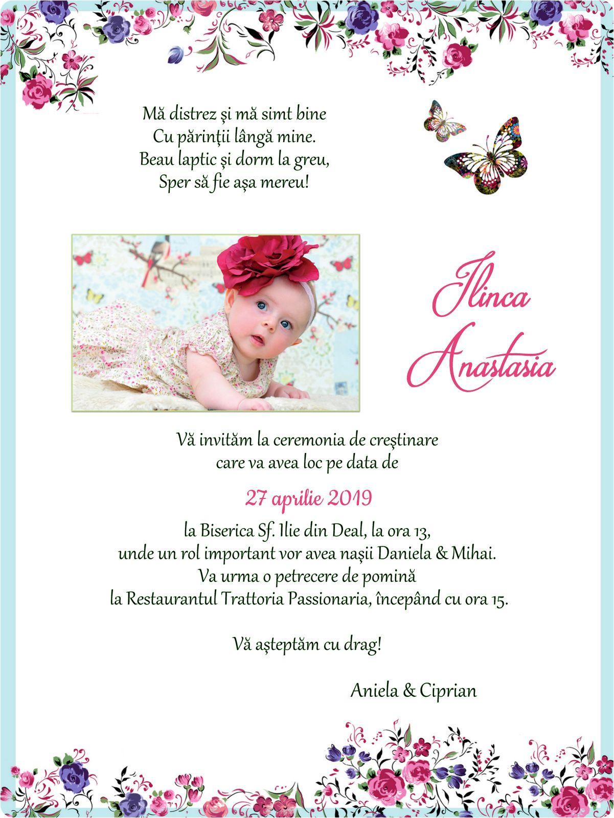 Invitatii De Botez De Trimis Online E Mail Facebook Whatsapp