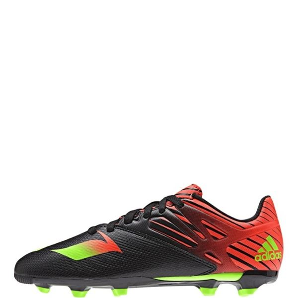 adidas Messi 15.3 J Black/Solar Green/Solar Red Youth Soccer Cleats - model