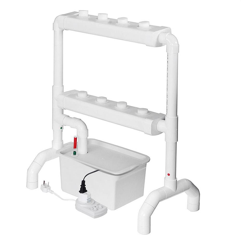 Vertical Hydroponic Flow Through Piping System Site Grow Kit Dwc