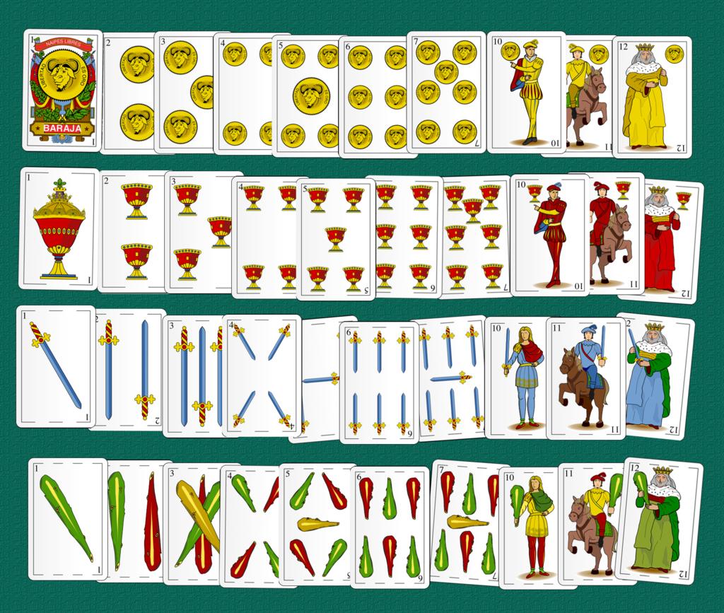 Baraja De 40 Cartas Baraja Española Wikipedia La Enciclopedia Libre Juegos De Baraja Baraja Baraja Española