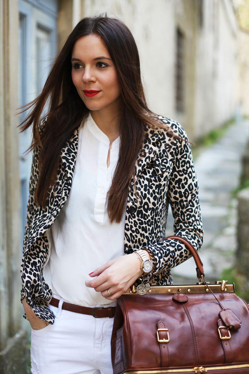 21bf1b39a37c camicia bianca donna giacca leopardata