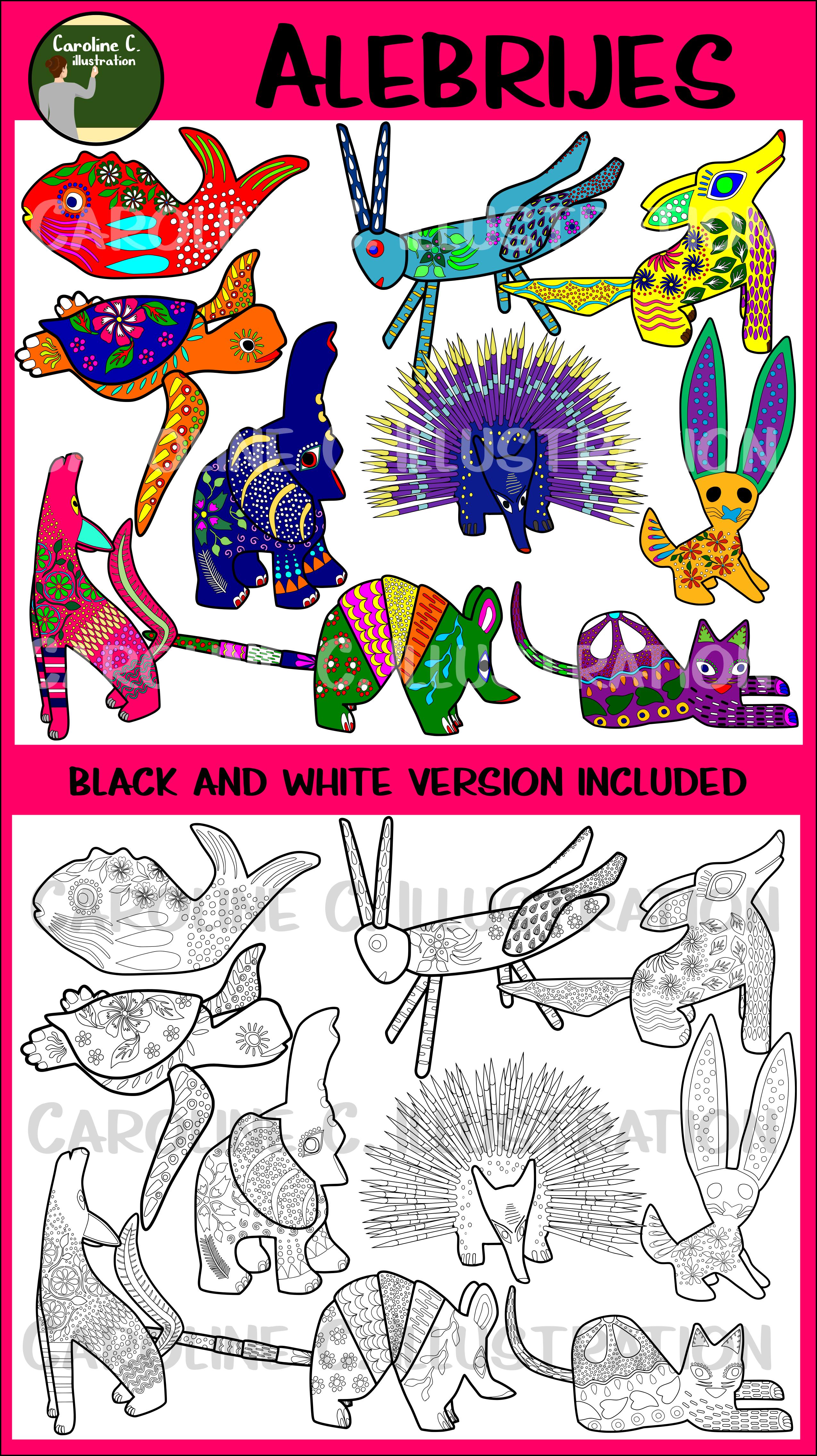 Mexican Alebrijes Clip Art Clip art, Art, Art set