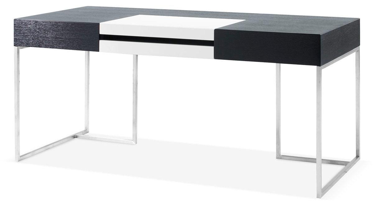 Ezra black veneer office desk with side cabinet sean ideas
