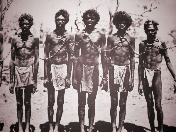 Image result for aborigines in chains in sydney