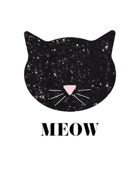Cat Wall Art sequin cat wall art | cat wall, free printable and sequins