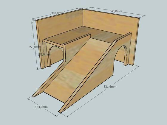 neuschweinstein das haus mit den rampen bauanleitung zum. Black Bedroom Furniture Sets. Home Design Ideas