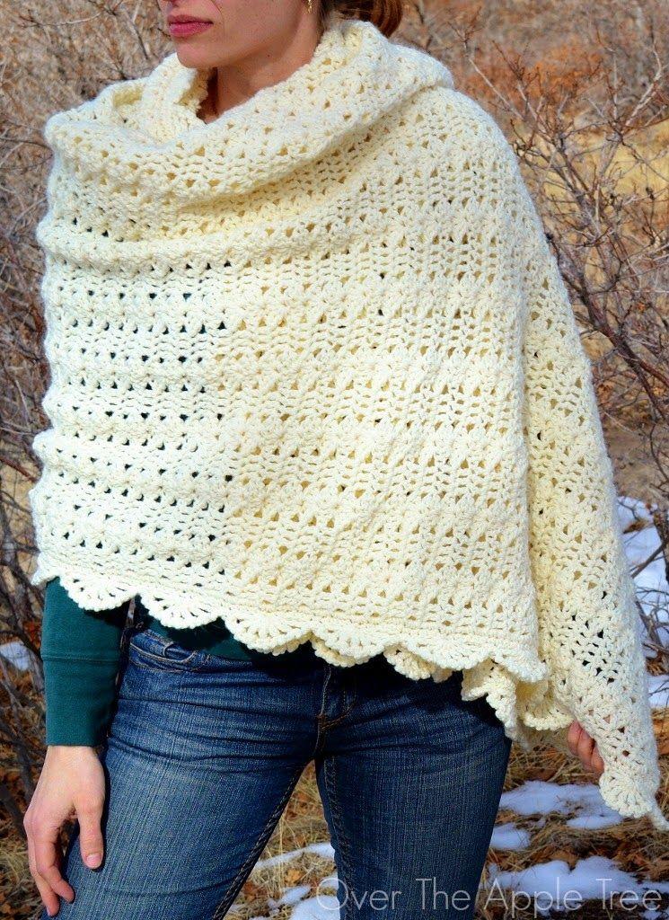 Crochet Shawl >> Over The Apple Tree | Crochet: Shawls, Ponchos and ...