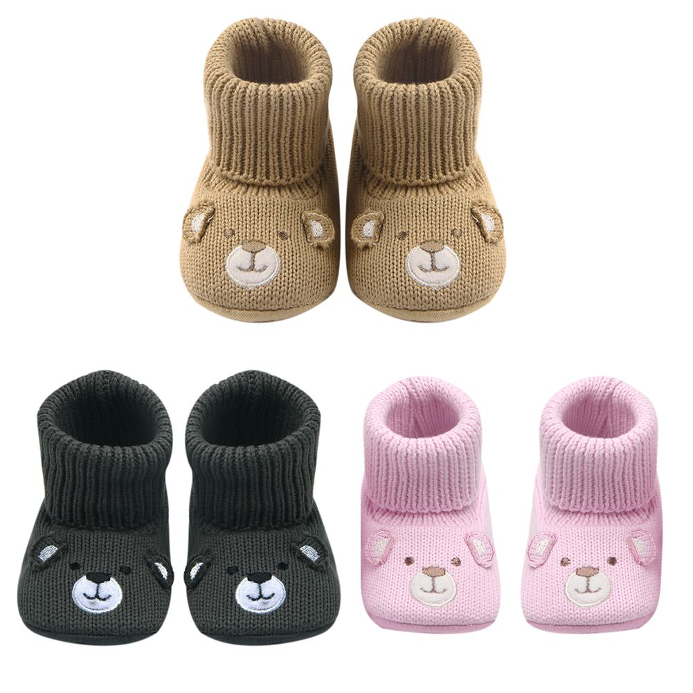 Winter Newborn Baby Toddler Boy Girl Knitted Socks Shoes Non-slip Soft Sole Boot