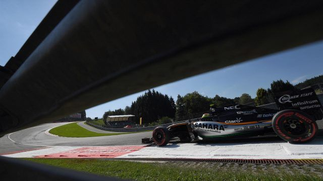 Sergio Perez (MEX) Force India VJM09 at Formula One World Championship, Rd13, Belgian Grand Prix, Qualifying, Spa Francorchamps, Belgium, Saturday 27 August 2016. © Sutton Images