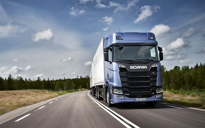 Download Wallpapers Scania S730 2018 Lkw New Trucks Delivery Concepts Truck With A Trailer Road Train Scania Besthqwallpapers Com New Trucks Scania S730 Trucks