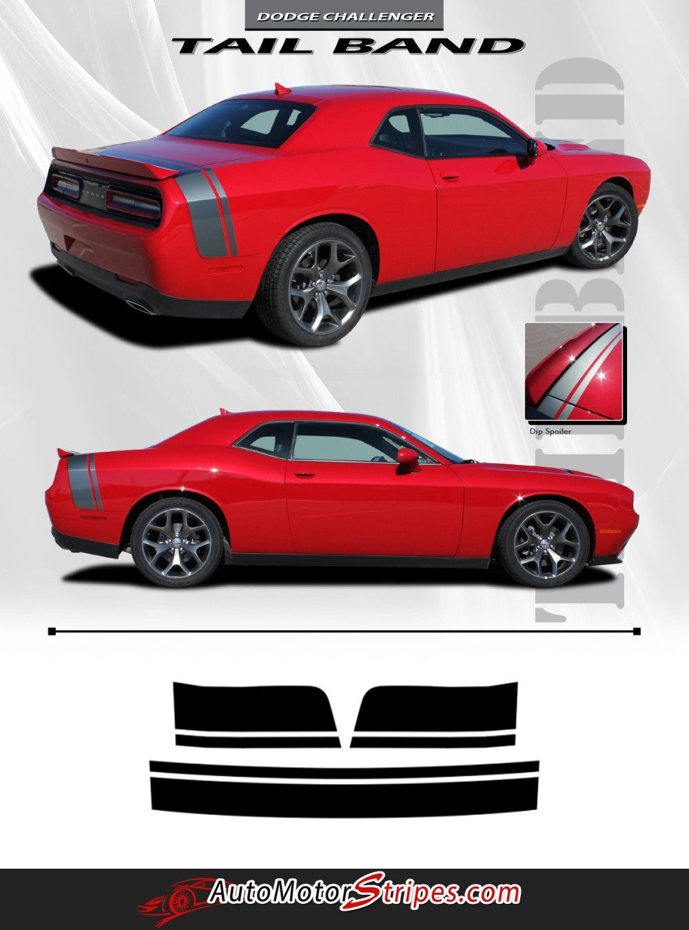 2011 2014 2015 2016 dodge challenger tailband factory mopar style bumblebee scat pack rear