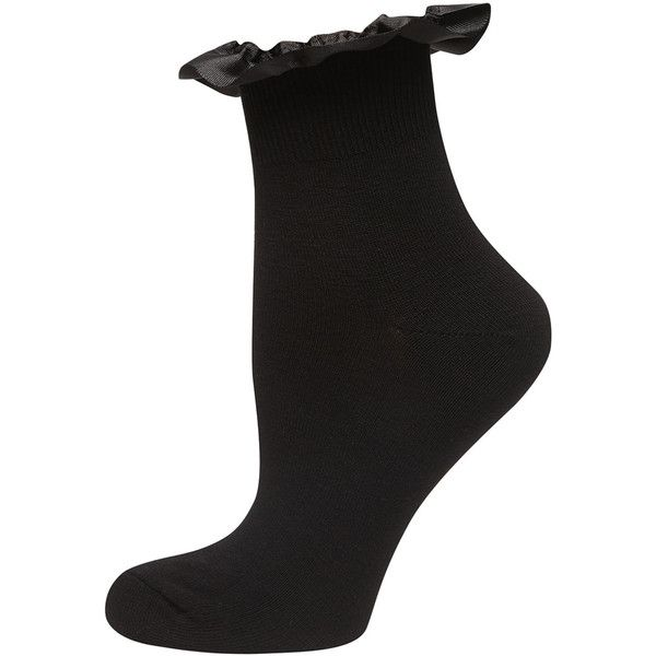 Dorothy Perkins Black Grossgrain Trim Sock ($2) ❤ liked on Polyvore featuring intimates, hosiery, socks, black, black socks, short socks, ankle socks, dorothy perkins and black ankle socks
