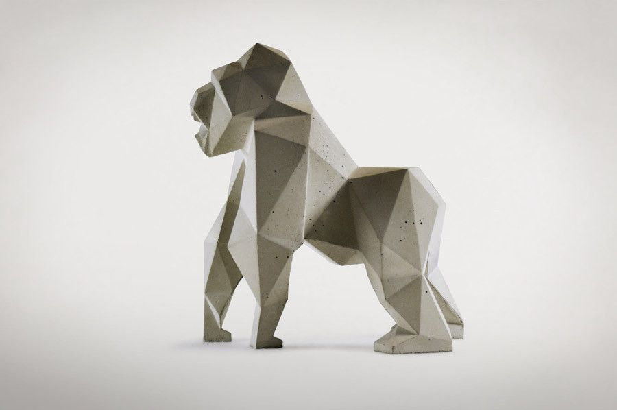 Concrete polygon gorilla business pinterest for Polygon produktdesign