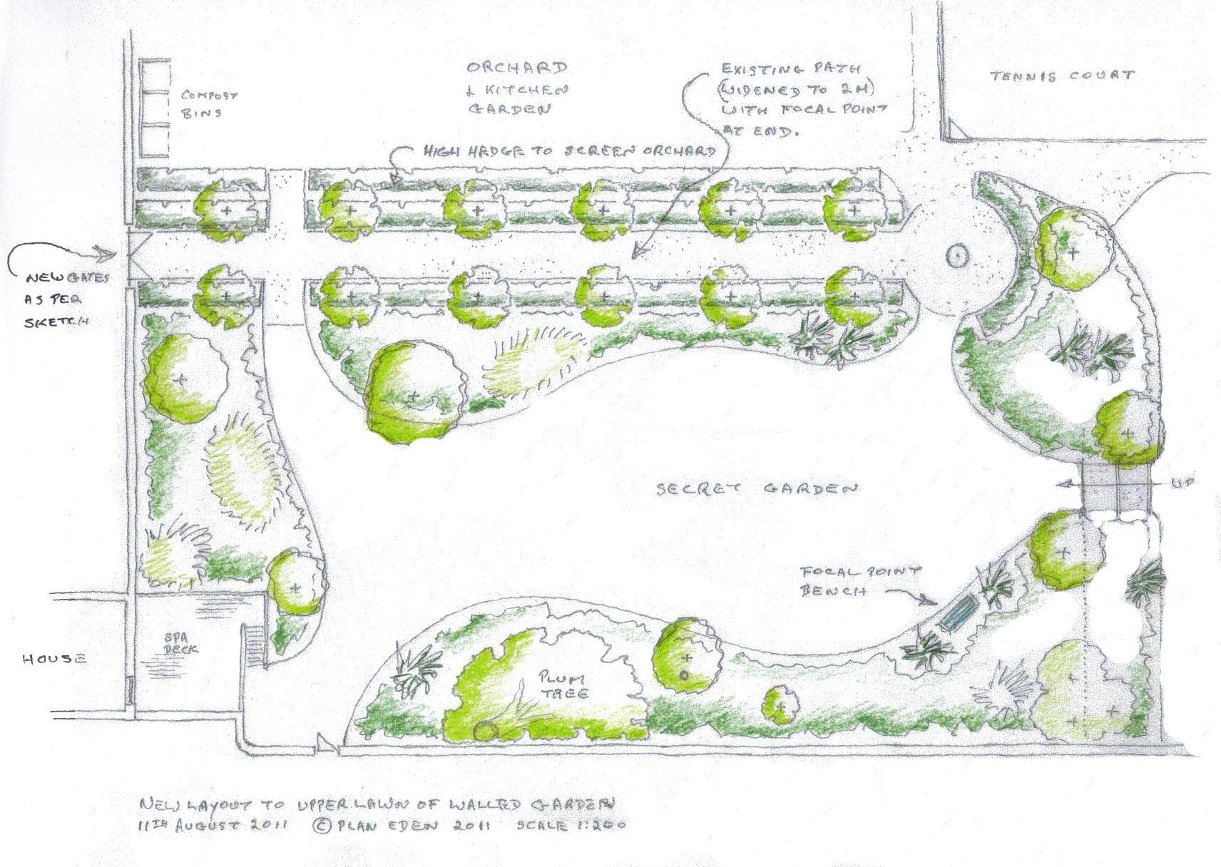 Garden Design Sketch Plan Plan Sketch Eden Design Design Sketch