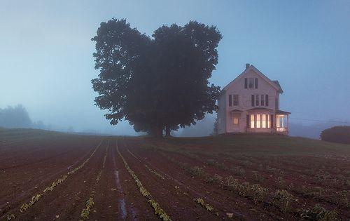 Farm In The Fog West Newbury Massachusetts Scenery Photo American Gothic