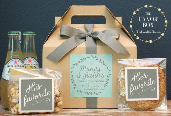 Set Of 6 Out Town Guest Box Wedding Welcome Bag Favor