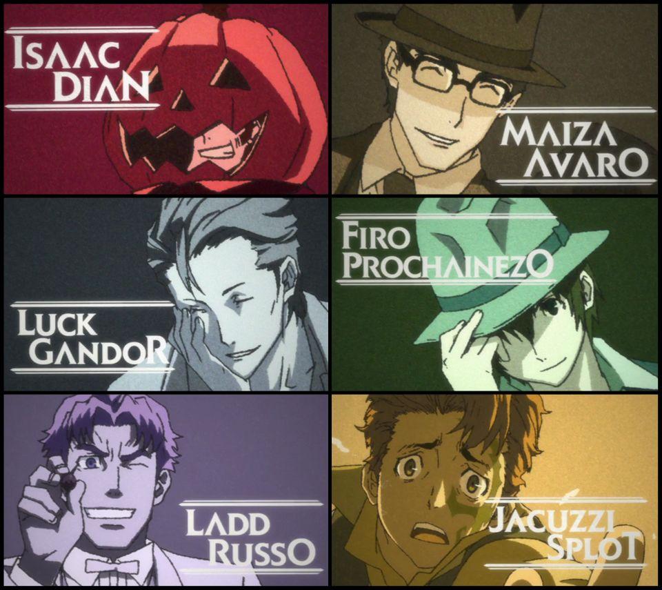 Tags: Baccano!, Jacuzzi Splot, Firo Prochainezo, Ladd Russo, Luck Gandor, Isaac Dian, Maiza Avaro