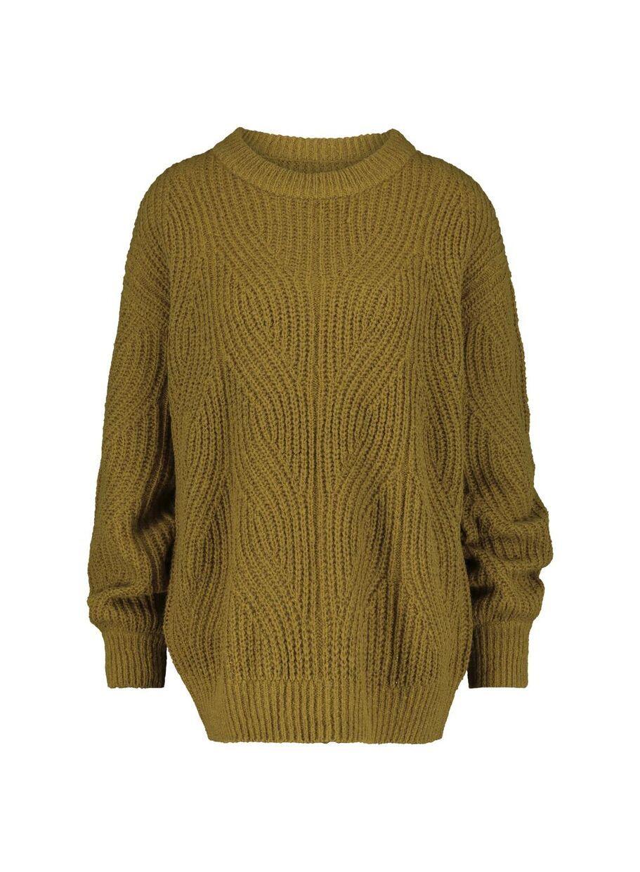 Damen Pullover, Strick olivgrün olivgrün 1000015469 HEMA
