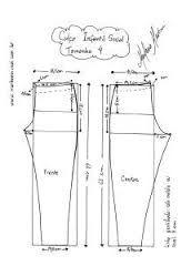 Resultado de imagem para moldes de macaquinho jeans tamanho natural