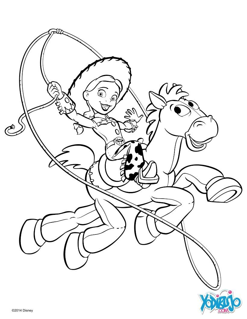 Ausmalbilder Disney Jessie : Dibujo Para Colorear Jessie Y Perdigon De Toy Story_2g4 Jpg 820