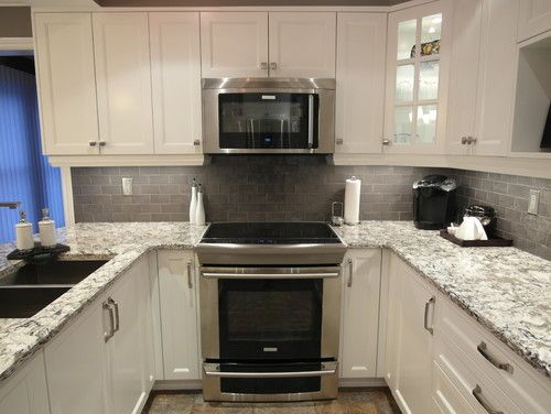 Bellingham quartz white cabinets backsplash ideas Backsplash ideas quartz countertops