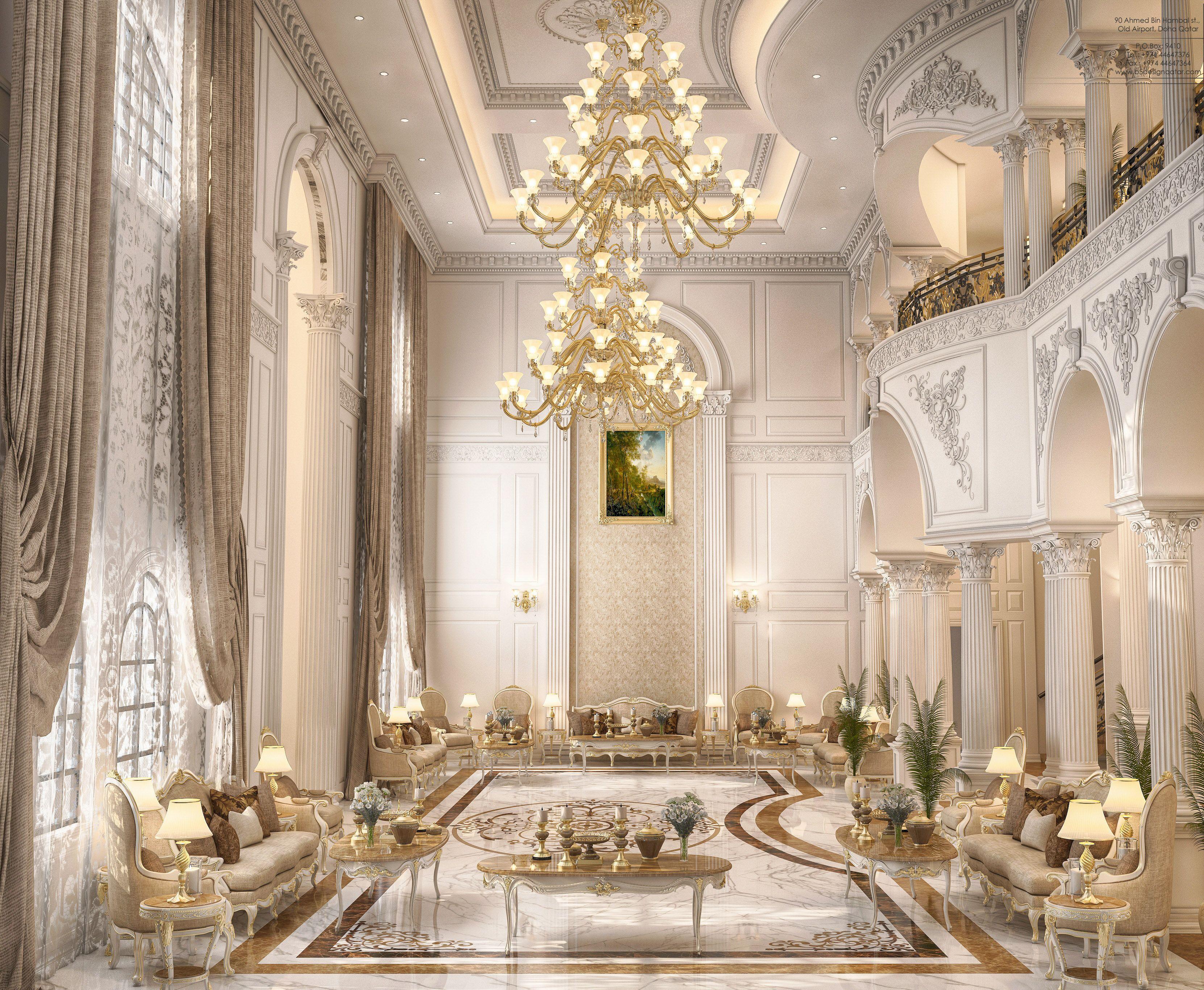 Main Hall design for a private villa