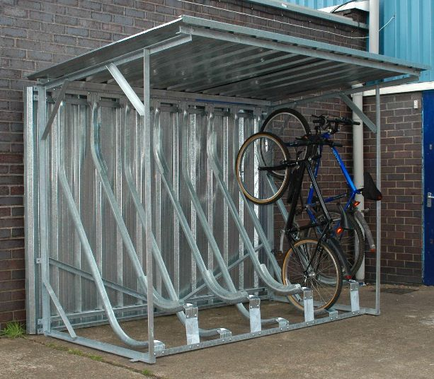 Semi Vertical Shelter Bicycle Storage Bike Storage Bicycle