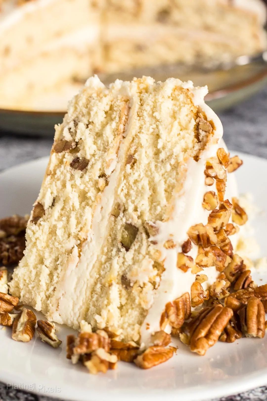 Butter Pecan Cake with Buttercream Frosting