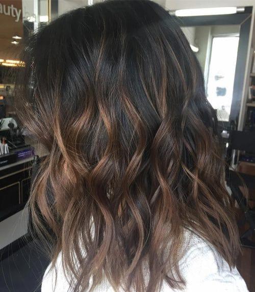 Haarfarbe dunkelbraun caramel