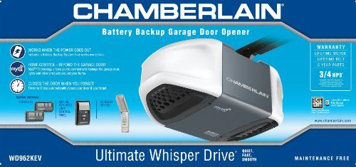 Chamberlain Wd962kev Whisper Drive Garage Door Opener With Myq Technology And Battery Backup Mul Best Garage Door Opener Best Garage Doors Garage Door Opener