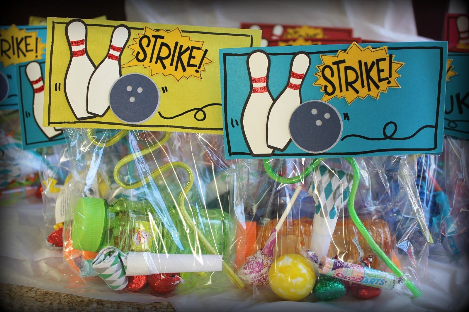 The Cutest Bowling Goo Bags Ever It Is Not Easy Finding Themed Party Decor So I Had To Design My Own Turned O