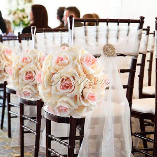 12pcs Artificial Flower Kissing Balls Wedding Party Home Bar Decor
