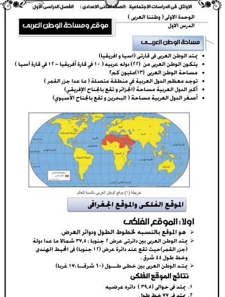 توزيع منهج الدراسات الاجتماعية للمرحلة الاعدادية الفصل الدراسى الأول 2020 م بوابة مولانا