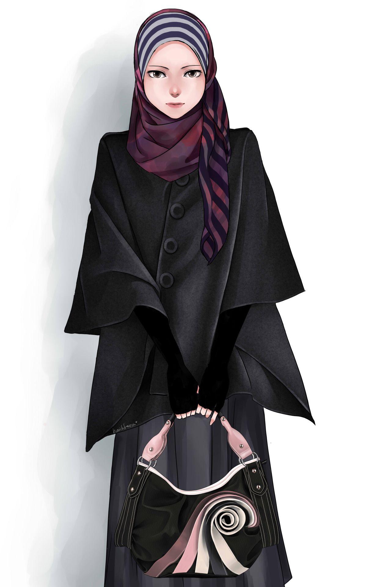 Hijab Styleu2026.Tool Paint Tool Saiu2026.   FASHION ILLUSTRATION   Pinterest   Illustrations Fashion ...