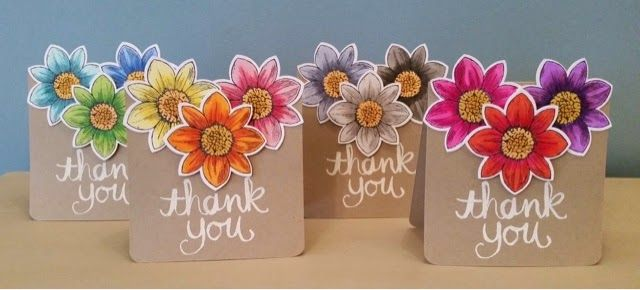 Stampin up thank you card set - What a beautiful colours! Love the color combos