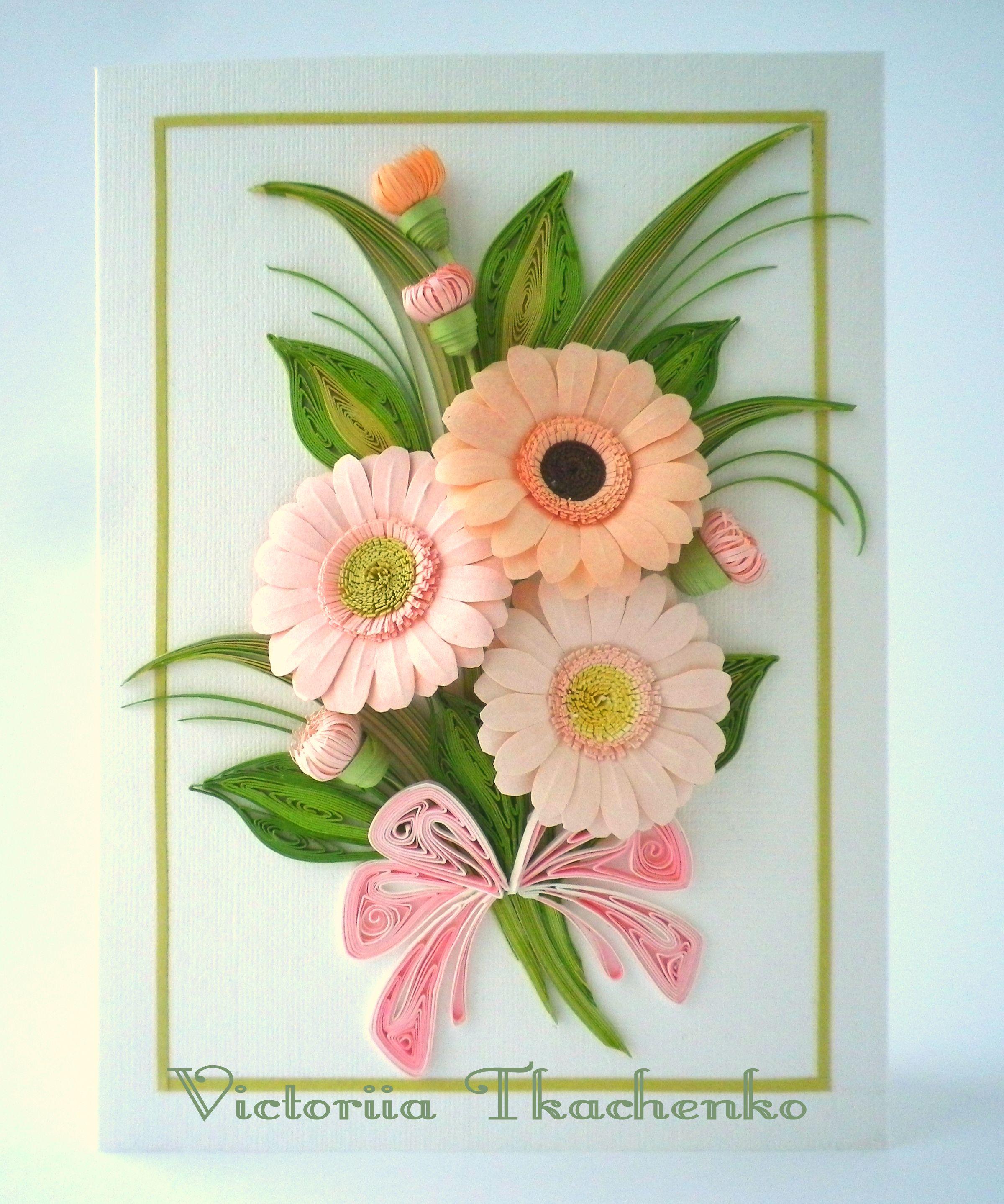 Открытки с цветами для начинающих, февраля открытка